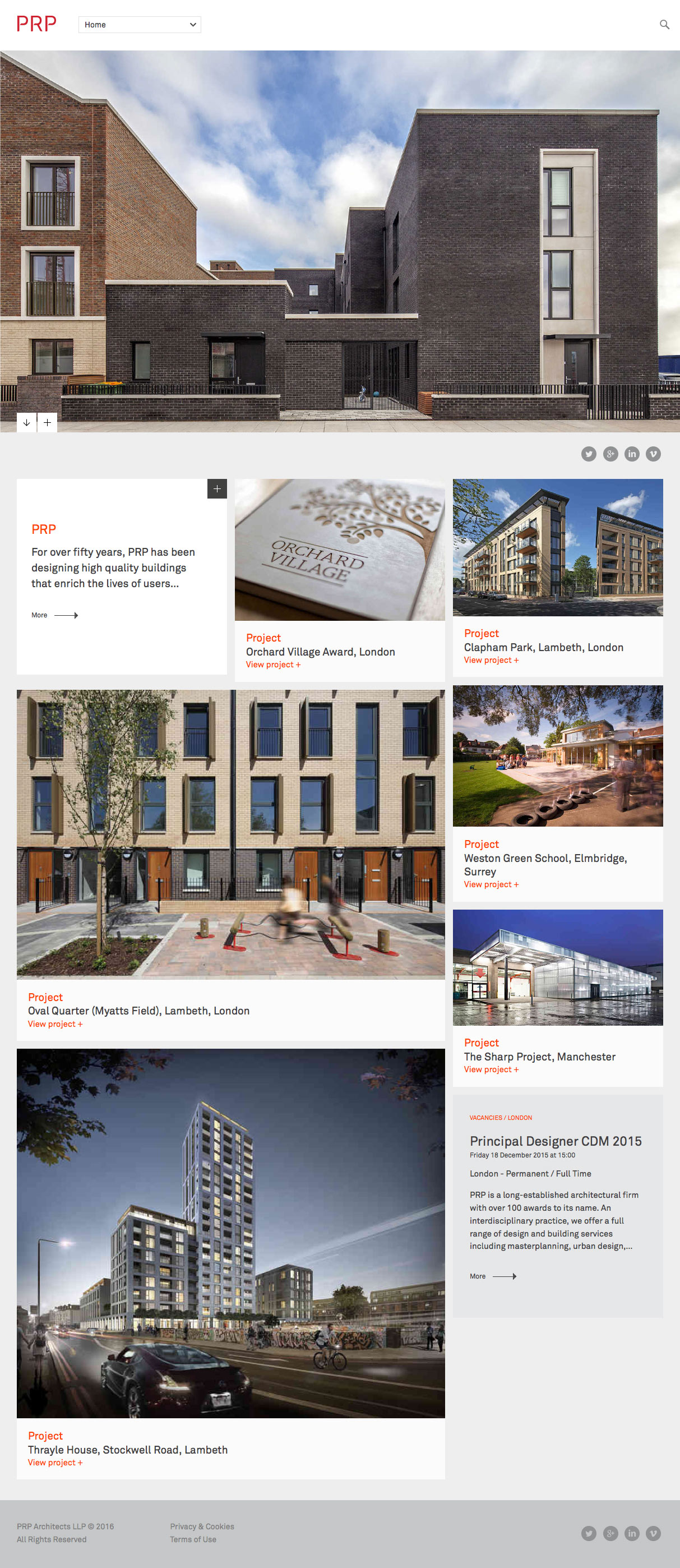 10 best architectural firms websites from around globe for Best architecture firm websites